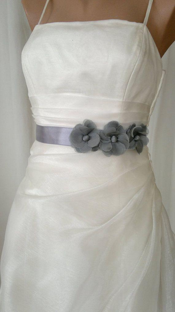 @Yuri Campos. I like this one too!.Handcraft  Grey Three Daisy Wedding Dress Bridal by elitewomen, $39.50