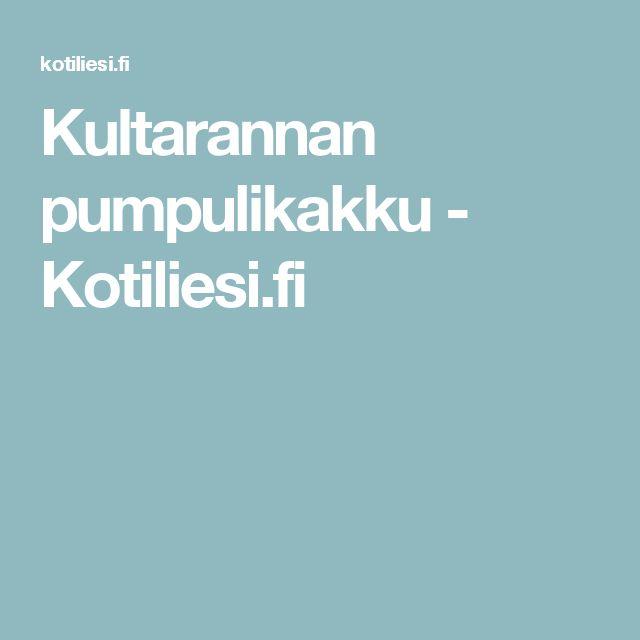 Kultarannan pumpulikakku - Kotiliesi.fi