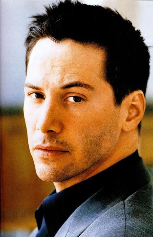 Keanu Reeves- he may be somewhat touch and go as an actor, but man he's got a beautiful face!