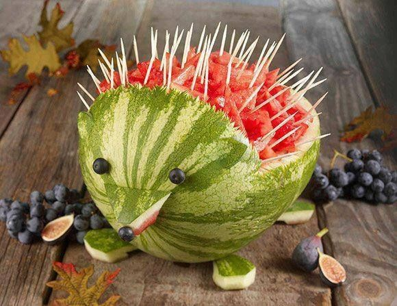 Watermelon porcupine food watermelon food art food art images food art photos food art pictures food art pics porcupine