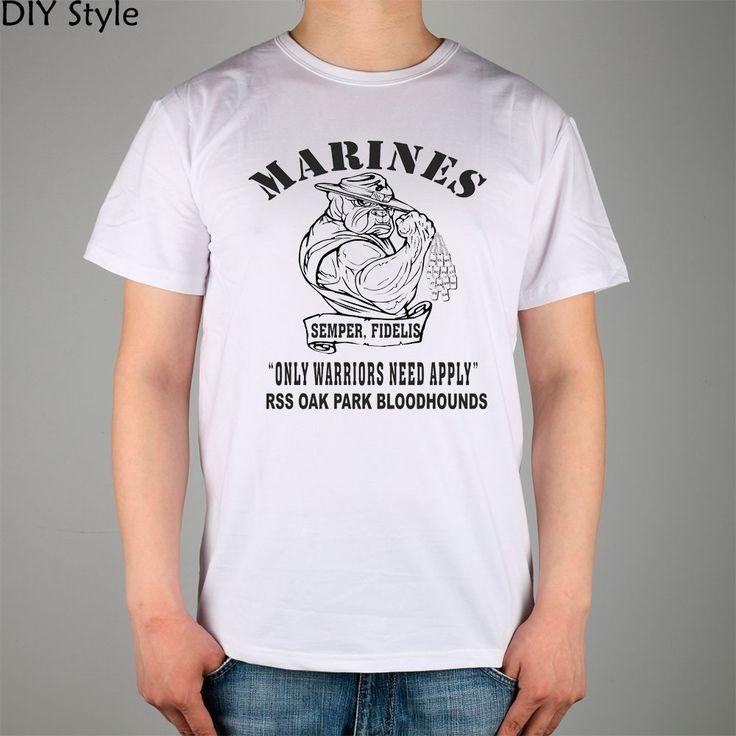 USMC MARINE CORPS short sleeve T-shirt Top Lycra Cotton Men T shirt New DIY Style #Affiliate