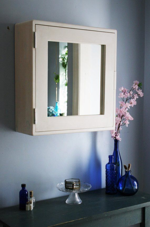 Bathroom Wall Cabinet White Chalk Paint Finish Large Door Mirror 56hx54wx18d Cm Eco Wood 3 Shelves Custom Sizes Handmade In Somerset White Bathroom Mirror Cabinets Bathroom Mirror Cabinet