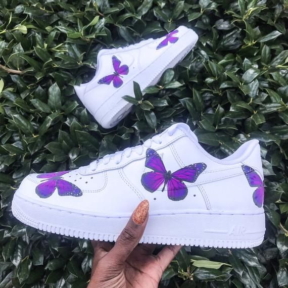 Purple Butterfly Air Force 1s | Custom Sneakers, Air Force