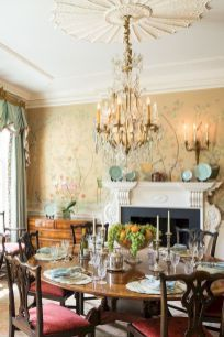 55 vintage victorian dining room decor ideas (16)