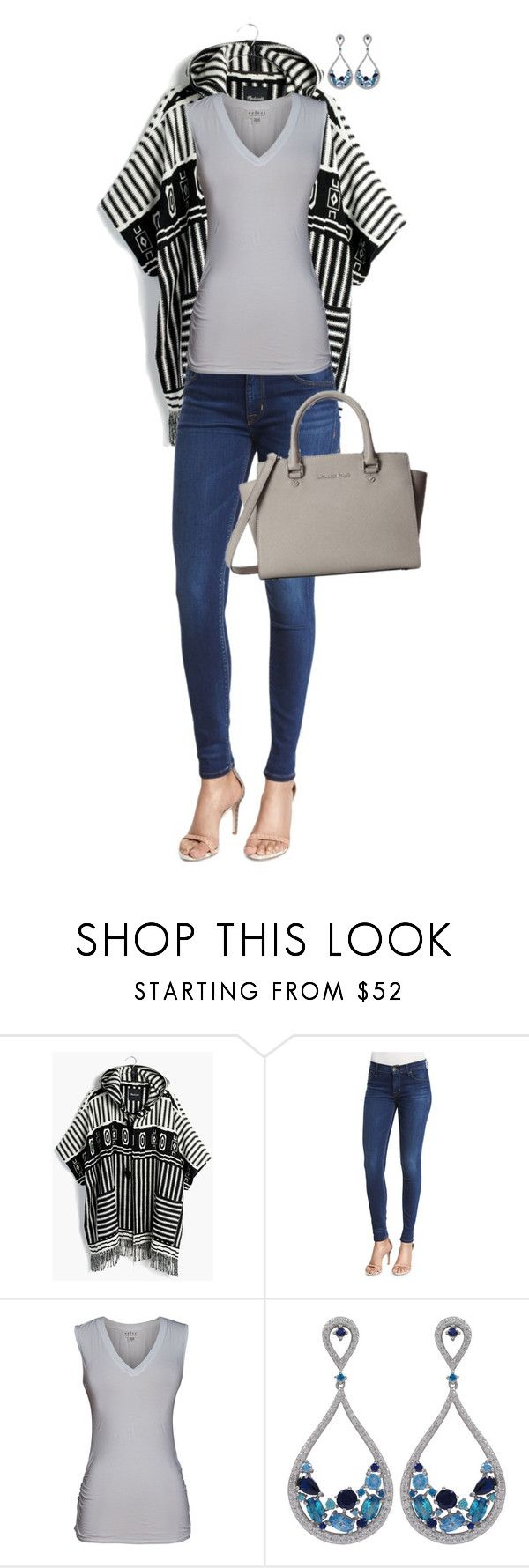 """""""Untitled #7018"""" by lisa-holt ❤ liked on Polyvore featuring Madewell, Hudson, Velvet by Graham & Spencer, Luxiro and Michael Kors"""
