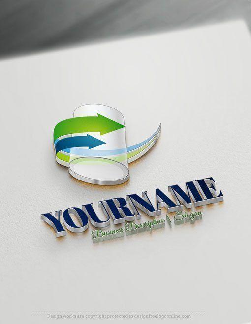Design Free Logo: 3D Tube Online Logo Template