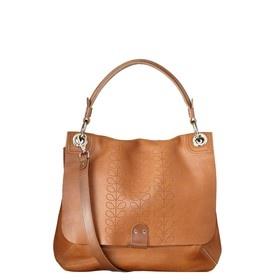 Stem Punched Ivy Bag. Chestnut. Orla Kiely. $545.
