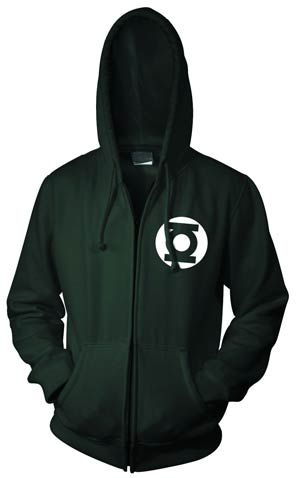 Get all warm with GL on the new Green Lantern Symbol Full-Zip Hoodie. Features the classic GL symbol imprinted in color on a quality hoodie. Want something for the kids? Check out the Lantern Symbol on Youth-size (the smalls fit a 5 year old?) shirts. Lanterns for all ages.  NOW AVAILABLE for sale in Canada and U.K.