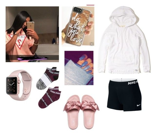 """""""Lazy outfit"""" by ashaureahware on Polyvore featuring Hollister Co., Victoria's Secret and Puma"""