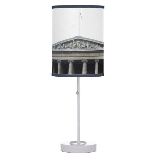 #zazzle #home #office #night #light #gift #giftidea #Museum #Entrance #London #Table #Lamp