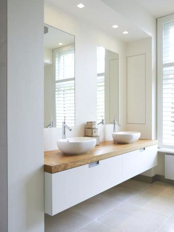 25 beste idee n over lichte badkamers op pinterest kleine badkamer decoreren kleine badkamer - Badkamers bassin italiaanse design ...