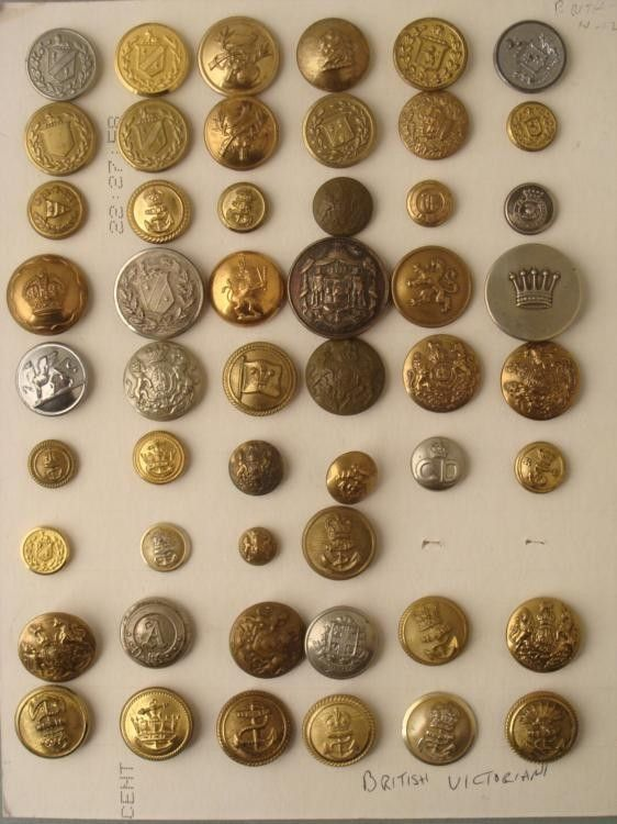52 British Victorian Military Buttons Big Collection : Lot 730017