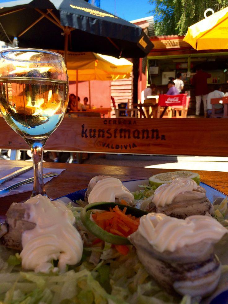 Locos con mayo #valdivia #RegiondelosLagos #chile #seafood with mayonnaise