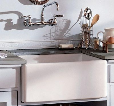 White Apron Front Farmhouse Sink : Apron sink. For the Home Pinterest Wall mount, Farm sink and ...