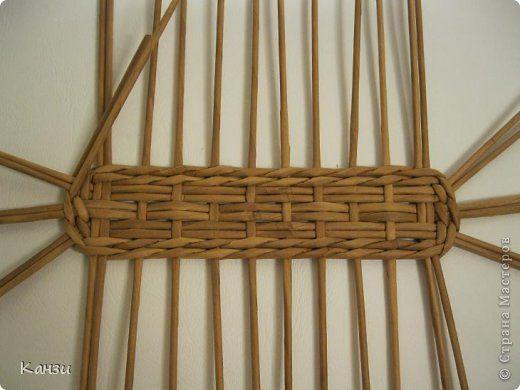 Поделка изделие Плетение МК корзинки с крышкой Бумага газетная Трубочки бумажные фото 5