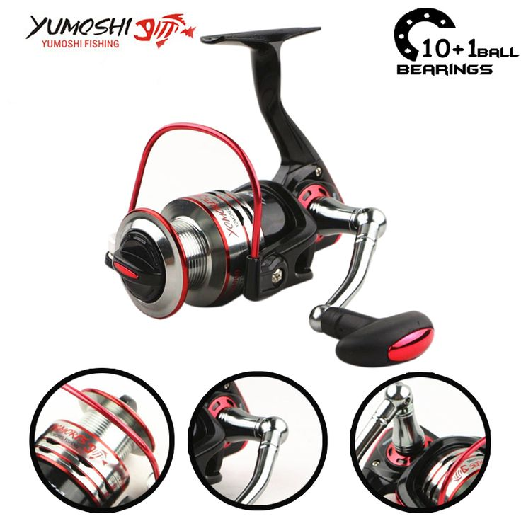 Yumoshi 10+1BB 5.1:1 1000-7000 Metal Feeder Carp Fishing reel China equipment fishing reels Carretilha de pesca molinete Daiwa