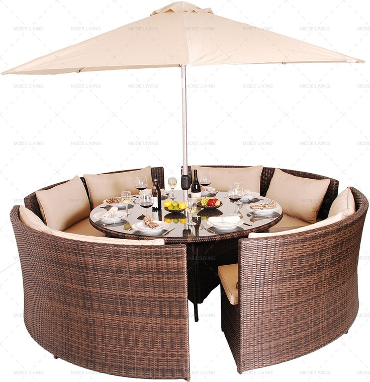 dallas round rattan garden sofa set rattan garden dining sets. Black Bedroom Furniture Sets. Home Design Ideas