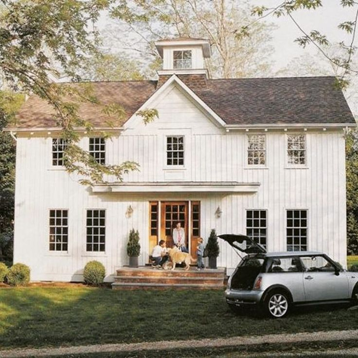 Modern farmhouse perfection love the mini cooper too modernfarmhouse farmhouse architecture classic minicooper floorplans pinterest