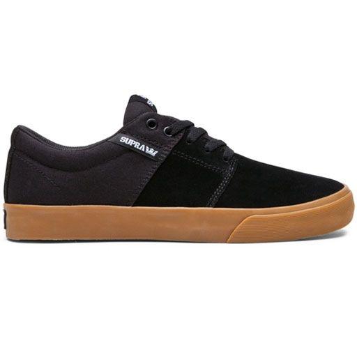 Supra Stacks Vulc II Shoes (Black/Gum) $54.95
