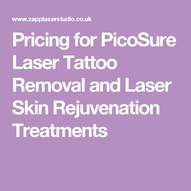 Pricing for PicoSure Laser Tattoo Removal and Laser Skin Rejuvenation Treatments
