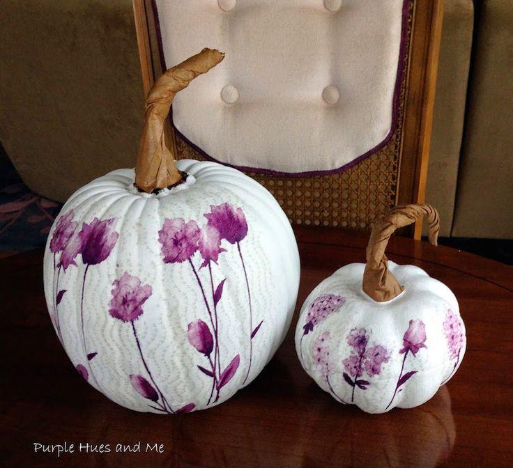 Una original idea para personalizar una calabaza forrándola con papel :) #diy #decoupage #halloween #decoracion