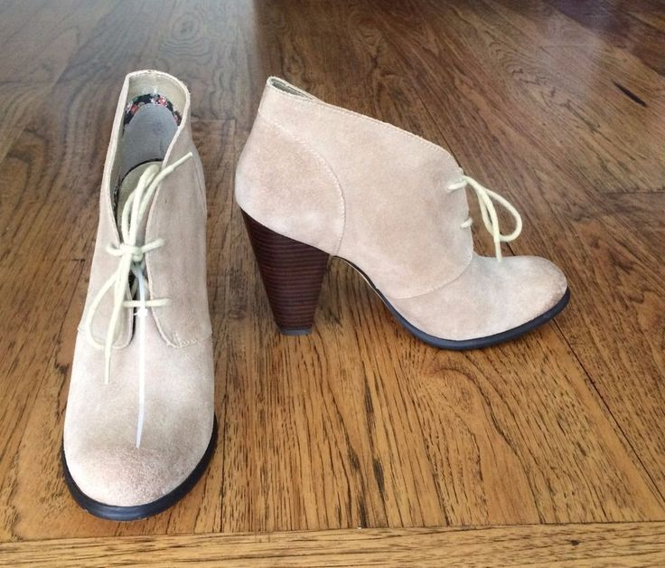 $120 NWOB Seychelles Bismuth sand Suede lace up oxford heeled Ankle Booties 11M | eBay - $44.99 + shipping