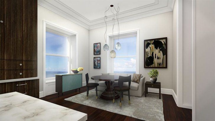 Pin for Later: Tour the Chicago Penthouse Vince Vaughn Is Desperate to Dump Kitchen Nook