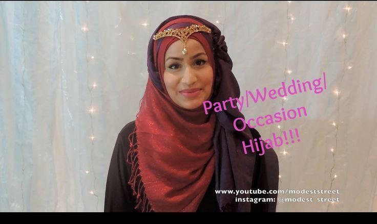 Party/occasion/wedding hijab tutorial- Collab with Rukshana Begum