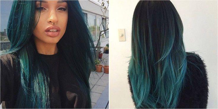 Tonos de cabello verde oscuro, ¿te atreves con él?
