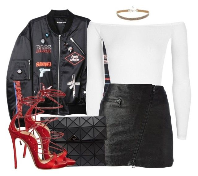 """""""scared of happy"""" by aiyanaa ❤ liked on Polyvore featuring Hyein Seo, Boohoo, Drome, Miss Selfridge, Bao Bao by Issey Miyake and Dsquared2"""