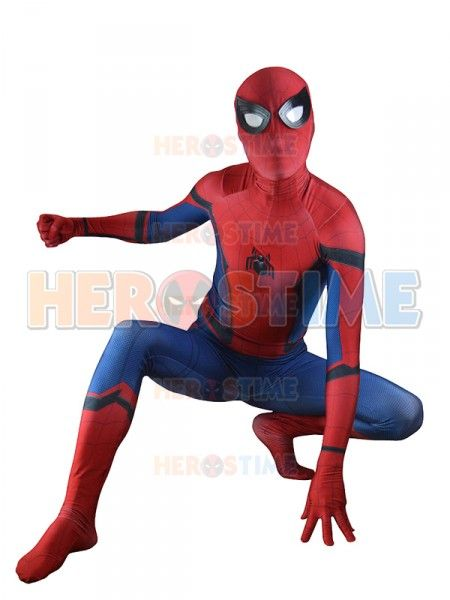 (SPD001)Spider-Man Homecoming Costume Movie TRAILER VERSION New Spiderman Cosplay Suit Spiderman Zentai Suit Superhero Costume #Affiliate