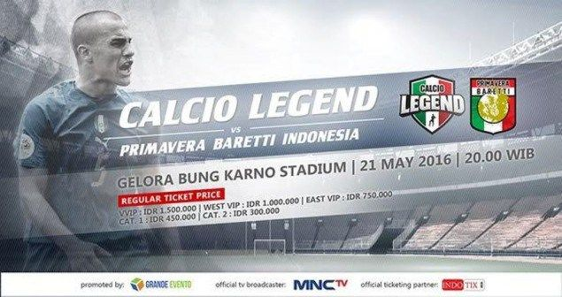 Calcio Legend vs Primavera Baretti Indonesia