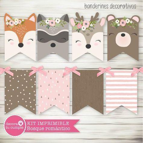 Custom Printable Forest Animals Kit …