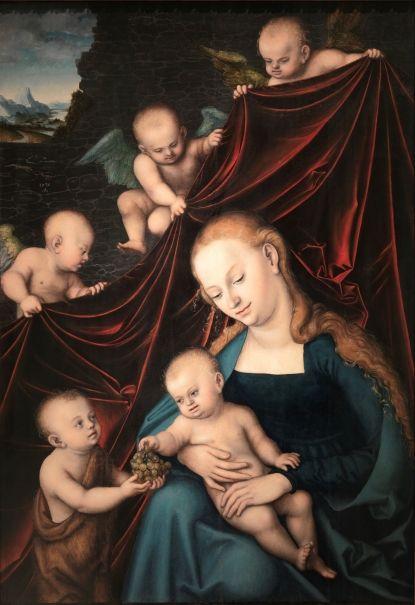 La Virgen con Niño, San Juan y ángeles, 1536. Museo del Prado, Madrid.