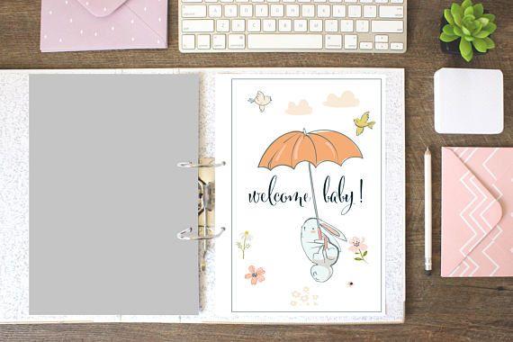 Welcome Baby, Baby Memory Book, Animal, Baby Books, Printable Baby Memory Book