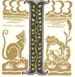 グリム童話:かえるの花嫁 装飾文字 Grimm's Fairy Tales:Frog Bride / Letters