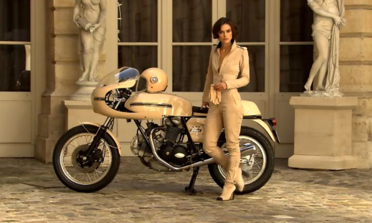 Keira knightly and a ducati - stylish