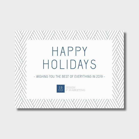 Corporate Holiday Card Business Christmas Happy Holidays