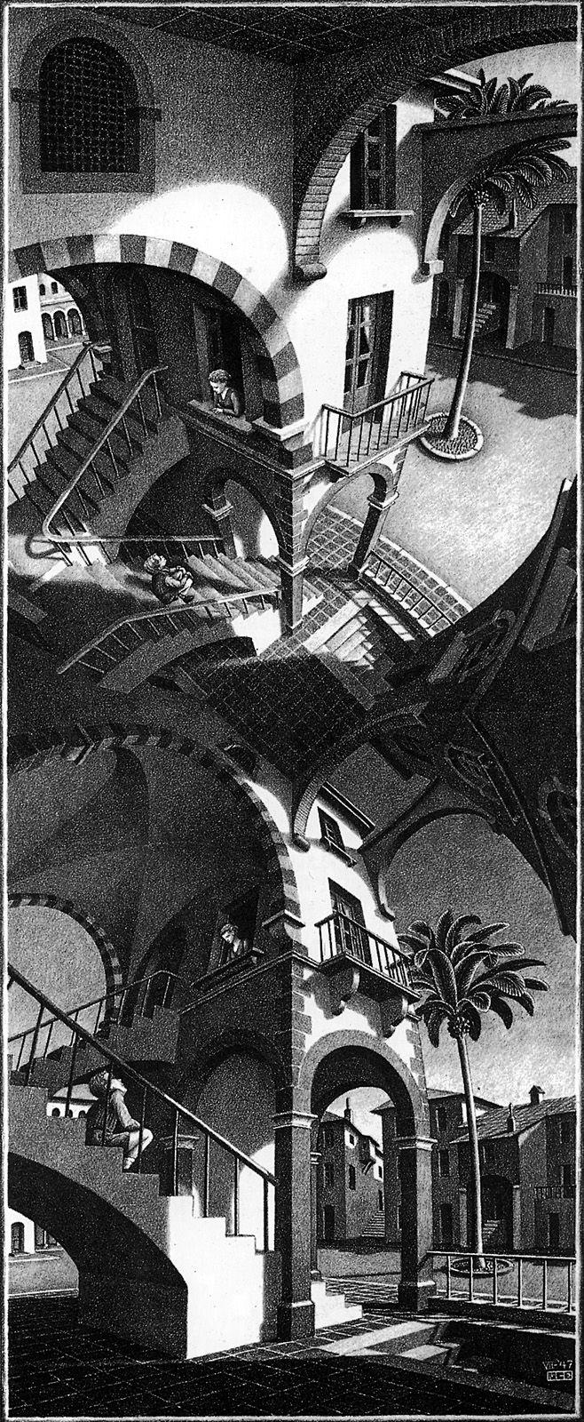 M. C. Escher - High And Low