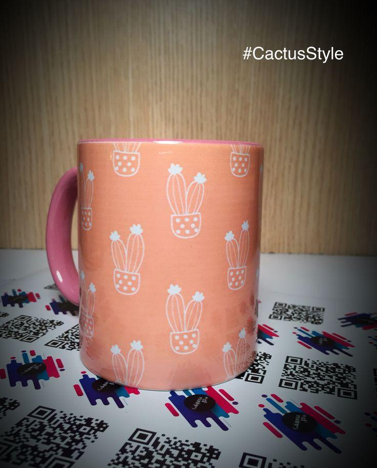 Mug Cactus  #CactusStyle, Pídelo ya en Facebook.com/GalajumaStore #Cactus, Mug Personalizados, Decoración, Súmale tú estilo todo.