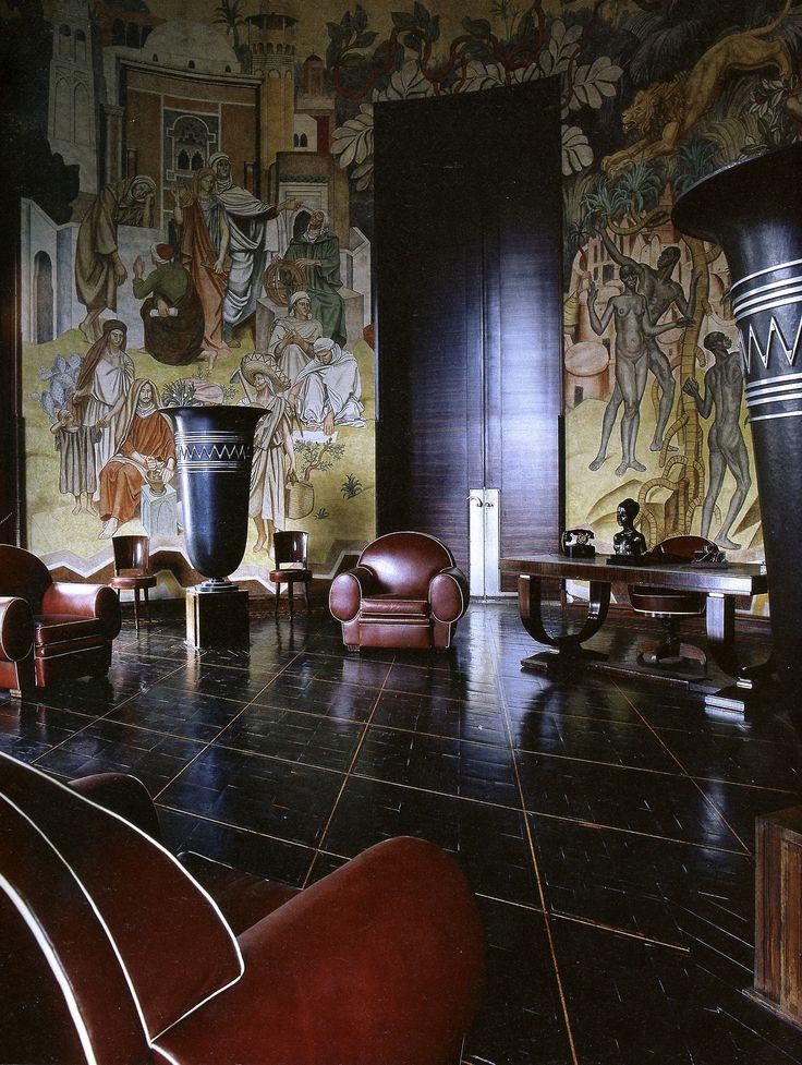 France. Salon, Musee des Arts Africains et Oceanniens // Emile-Jacques Ruhlmann (French, 1879-1933)