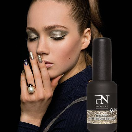 Own the night and sparkle with pronails! #pronails #nailart #chromeeffect