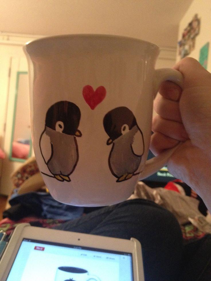 penguin sharpie mug
