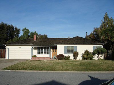 """Steve was born in 1955, was adopted, and as his official bio reads, """"grew up in the apricot orchards which later became known as Silicon Valley.""""  Here's the house where Apple later began."""