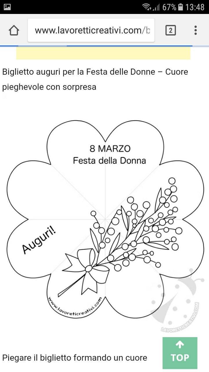 Lavoretto 8 Marzo Bigliettini Per Festa Del Papa Festa Della Mamma Colori Di Primavera