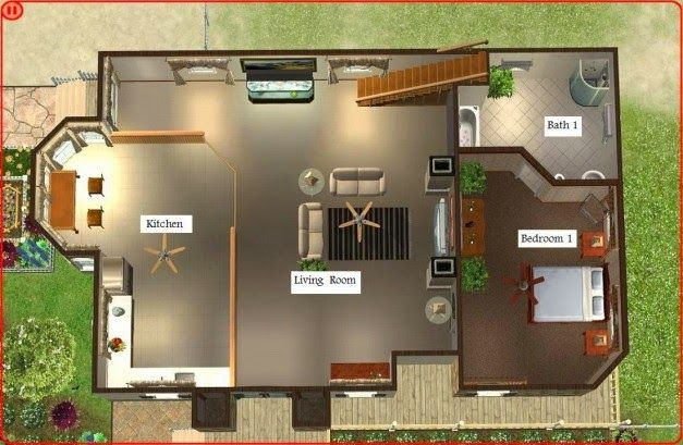 desain Rumah pantai Sederhana
