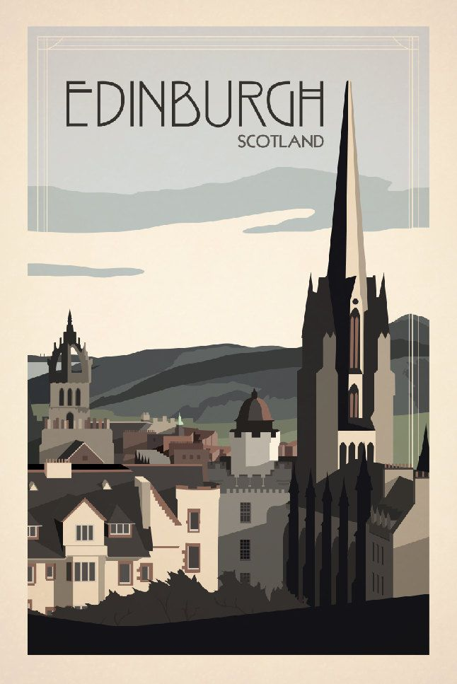Edinburgh Scotland Travel Poster inspired by by TravelPosters