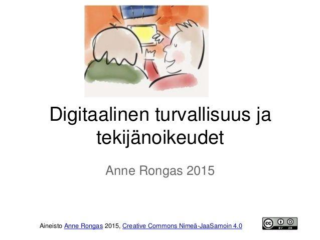 Digitaalinen turvallisuus ja tekijänoikeudet opettajille