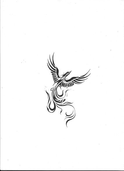 Pretty cool phoenix idea....accented in white and purple and blue (: maybe a…
