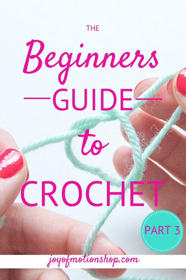 """The third part of """"The Beginners Guide to Crochet"""" is here! Today you'll be learning to work in rows & turning your project! Today you'll need to grab http://joyofmotion.no/blog/beginners-guide-crochet-part-3/"""